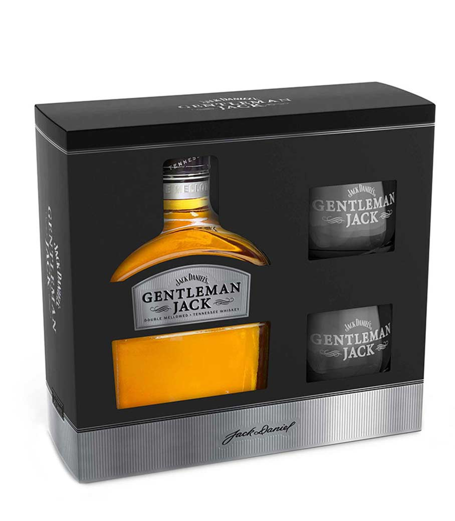 JACK DANIELS GENTLEMAN WHISKEY GIFT PACK ΜΕ 2 ΣΥΛΛΕΚΤΙΚΑ ΠΟΤΗΡΙΑ 700ml