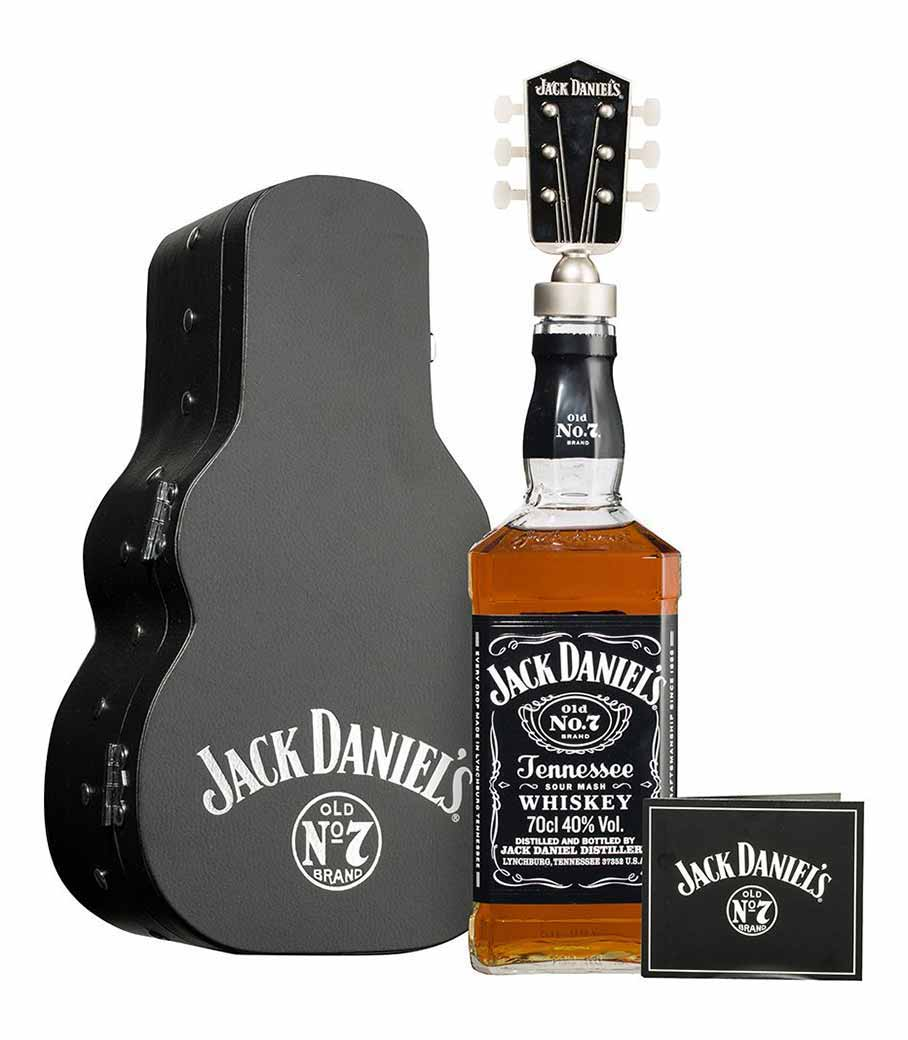 JACK DANIEL'S GIFT PACK GUITAR WHISKEY 700ml