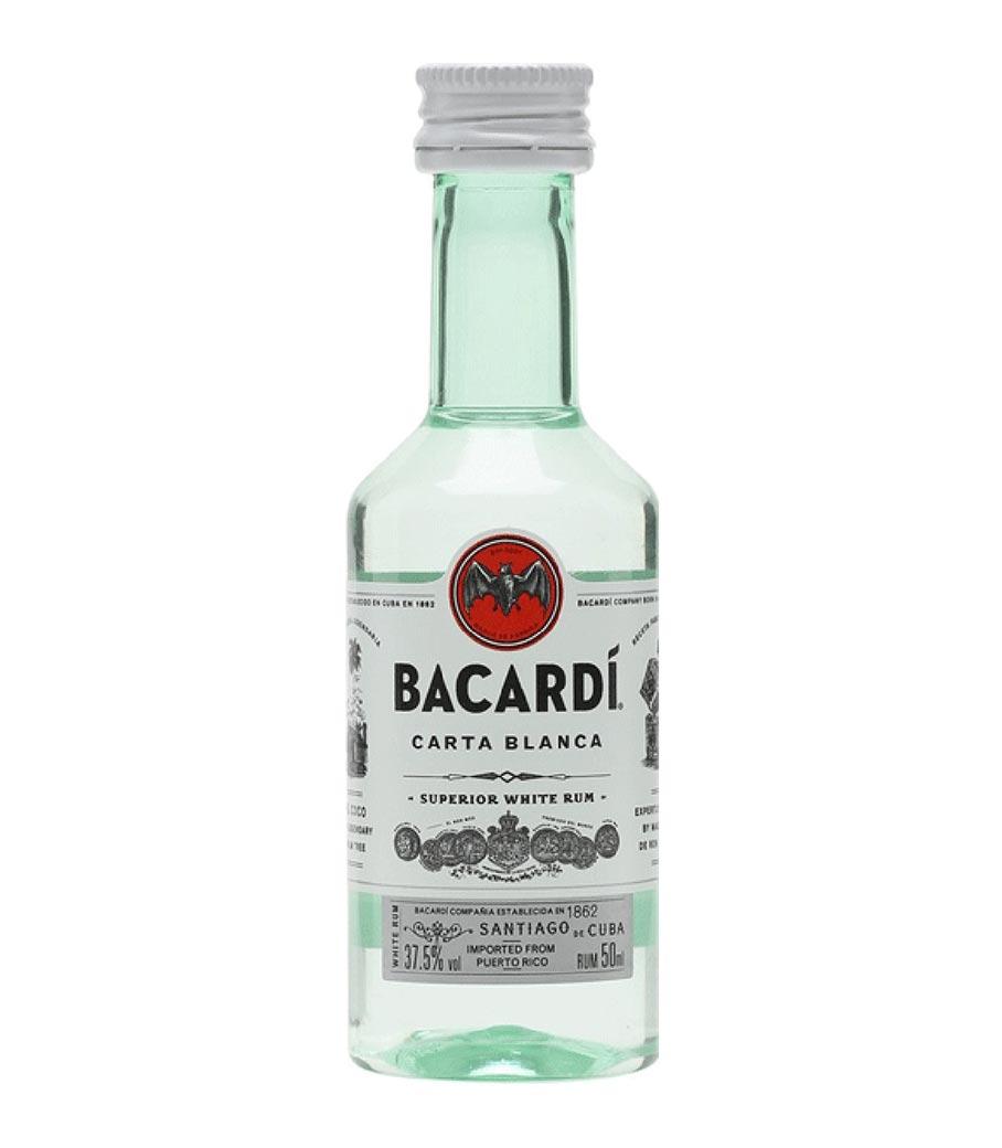 BACARDI CARTA BLANCA RUM ΜΙΝΙΑΤΟΥΡΑ 50ml